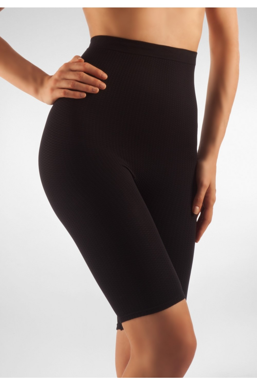 FarmaCell Masážní kalhotky nad kolena s vysokým pasem Barva: Černá, Velikost: M/L