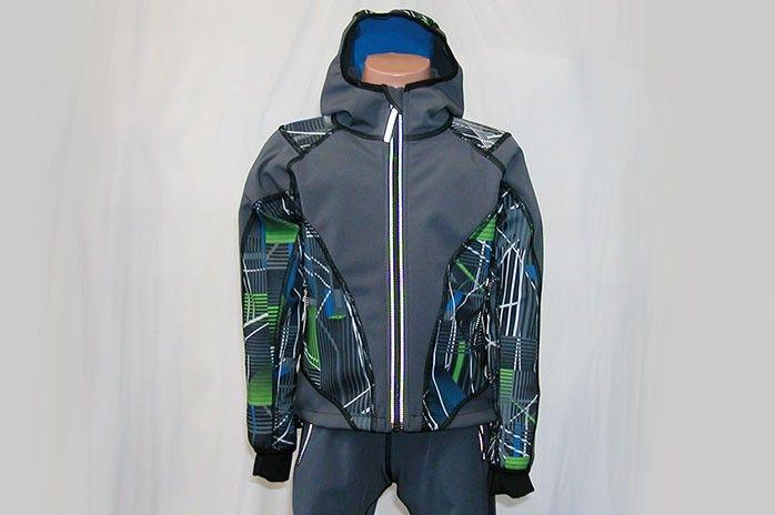 O.K. SPORT Dětská bunda SPIRIT volnějšího střihu s kapucí (s potiskem) Barva: Šedá, Velikost: 92