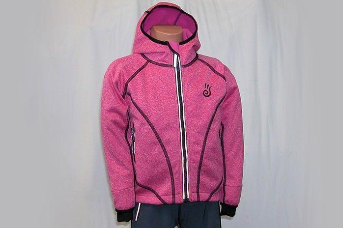 O.K. SPORT Dětská bunda SPIRIT volnějšího střihu s kapucí (melír) Barva: Růžová, Velikost: 116