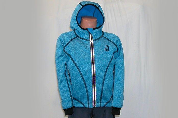 O.K. SPORT Dětská bunda SPIRIT volnějšího střihu s kapucí (melír) Barva: Modrá, Velikost: 116