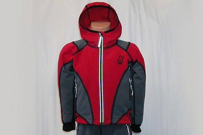 O.K. SPORT Dětská bunda SPIRIT volnějšího střihu s kapucí (2 barvy) Barva: Červená, Velikost: 92