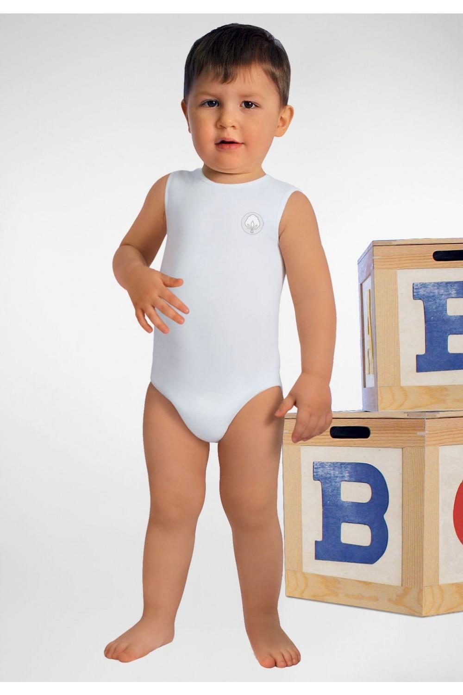 RelaxMaternity Baby Dětské body bez rukávů z bavlněného vlákna