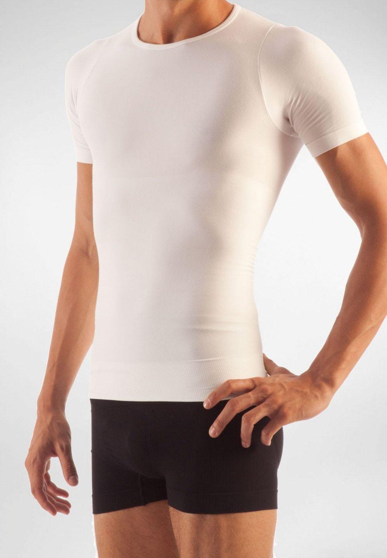 FarmaCell Pánské zeštíhlující tričko s krátkým rukávem Barva: Bílá, Velikost: S