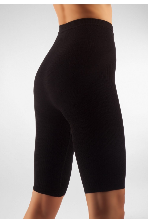 FarmaCell Masážní a zeštíhlující kalhotky nad kolena Barva: Černá, Velikost: L/XL