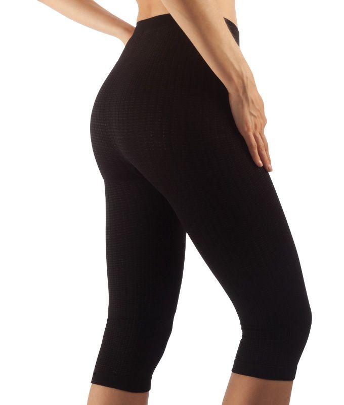 FarmaCell Masážní kalhotky pod kolena, stříbrné vlákno Barva: Černá, Velikost: S/M